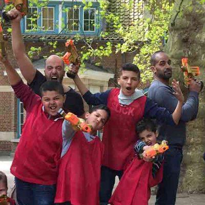 Lasergame met kinderen levering in Belgie